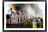 Major Fire in Disused Pub, Framed Mounted Print