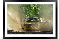 Ford Escort Rally Car, Framed Mounted Print