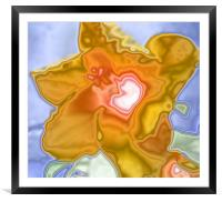 Hibiscus abstract, Framed Mounted Print