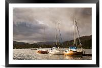 Boats at Windermere, Framed Mounted Print