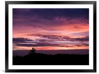 Norfolk Sunset - 2, Framed Mounted Print