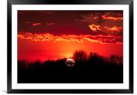 Norfolk Sunset - 1, Framed Mounted Print