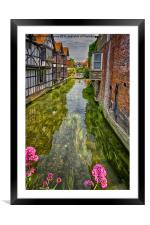 Boating in Oxford City, Framed Mounted Print