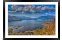 English Lakes Cumbria, Framed Mounted Print