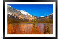 The Emerald Lake in Alaska, Framed Mounted Print
