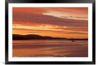 Bute Ferry at Sunset, Framed Mounted Print