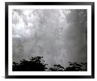 Through the falls, Framed Mounted Print