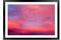 red cloudscape at sunset., Framed Mounted Print
