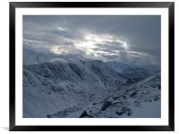 View from Buachaille Etive Beag, Framed Mounted Print