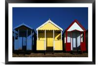 Beach Huts, Framed Mounted Print