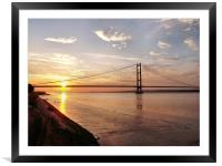 Humber Bridge Sunset, Framed Mounted Print