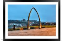 Whitby Whalebone Blue Hour, Framed Mounted Print