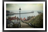 Vintage Whitby, Framed Mounted Print