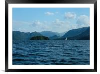 Sailing on Derwent Water, Framed Mounted Print