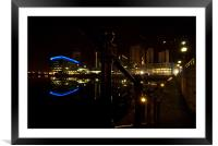 Salford Quays BBC Building, Framed Mounted Print