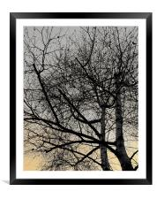 They stand together, Framed Mounted Print