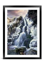 Icy Water, Framed Mounted Print