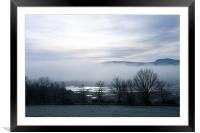 Cold Winter Morning, Framed Mounted Print