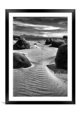 Gairloch Big Sand Beach in Moonlight, Framed Mounted Print