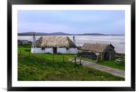 Cottage on North Uist, Framed Mounted Print