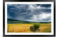 Storm Clouds and Sunbeams, Framed Mounted Print