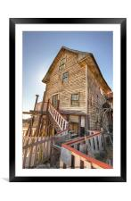 The Crooked Barn, Framed Mounted Print
