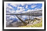 A Bridge To The Other Side., Framed Mounted Print