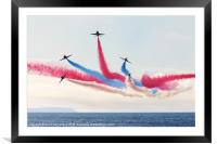 Red Arrow display, Framed Mounted Print