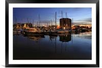harbour nights, Framed Mounted Print