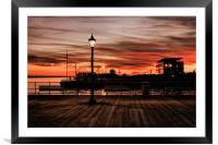 WATERFRONT NIGHT SKY 2011, Framed Mounted Print