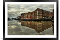 Reflections of the River Hull 2012, Framed Mounted Print