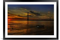 Humber Bridge Sunset 2012, Framed Mounted Print