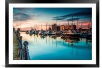 Marina Morning 2014, Framed Mounted Print