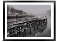 mist the boat, Framed Mounted Print