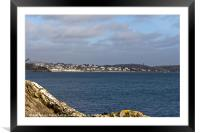 St Mawes Village, Framed Mounted Print