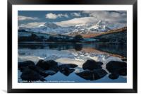 Mirrored Mountains, Framed Mounted Print