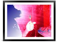 A Flame, Framed Mounted Print