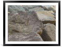 rocks of sidmouth, Framed Mounted Print