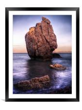 Sunset On Aphrodite's Beach, Framed Mounted Print