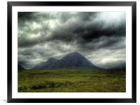 Stormy Clouds Over Glen Coe, Framed Mounted Print