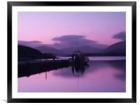 Autumn Sunset On Loch Leven, Framed Mounted Print