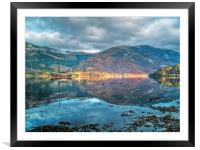 Wooden Sail Boat On Loch Leven, Framed Mounted Print