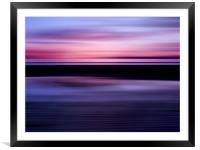 Beach Abstract, Framed Mounted Print
