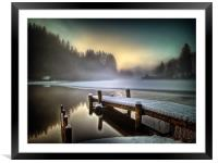 Loch Ard, Scotland, Framed Mounted Print