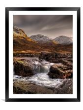 The River Etive, Scotland, Framed Mounted Print