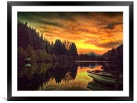 Loch Ard In Spring, Framed Mounted Print