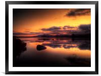Loch Ba Sunrise, Framed Mounted Print