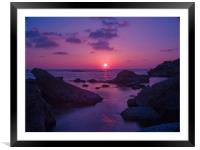 A Cypriot Sunset, Framed Mounted Print