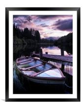 Loch Ard Summers Evening., Framed Mounted Print
