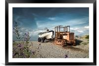 Tractor and Fishing Boat, Framed Mounted Print